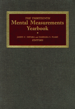 The Thirteenth Mental Measurements Yearbook